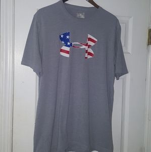 Under Armour red white & blue shirt